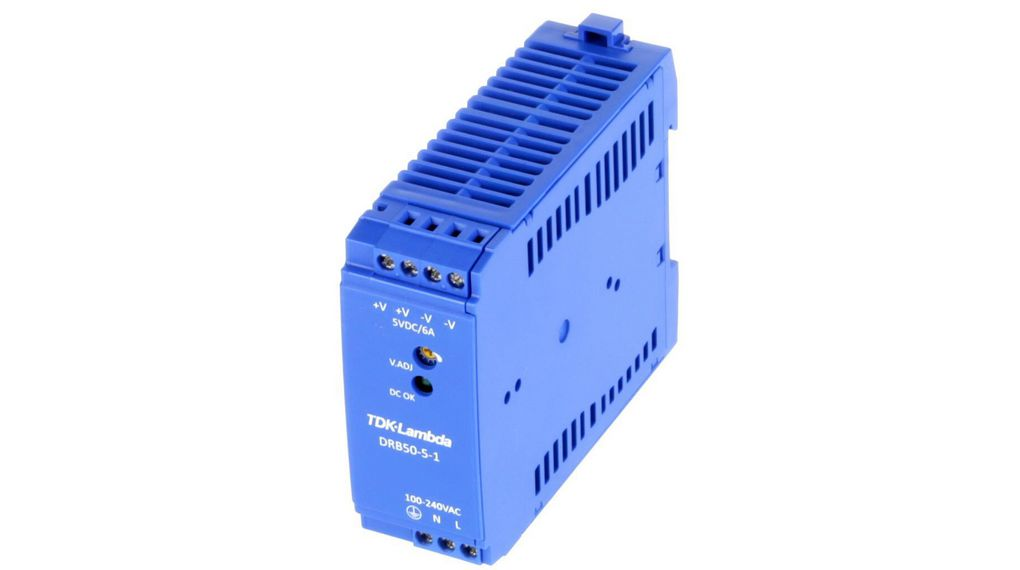 Köp DIN Rail Power Supply, 5V, 6A, 30W, Adjustable