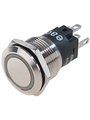 Pushbutton illuminated Nerūsošais tērauds 22 mm 250 VAC 3 A 1 change-over (CO) Köp {0}
